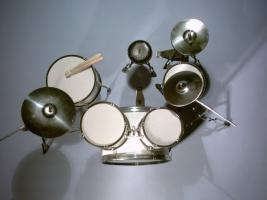 Foto 2 Mini Drum kit  - Sonor (white)