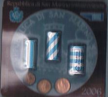 Mini Euro Kursmünzensatz Original San Marino '' 2006/1 '' ! !