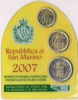 Mini Euro Kursmünzensatz Original San Marino '' 2007'' ! !