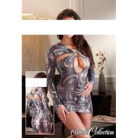 Mini-Kleid Snake silber Gr. Medium (M) - OVP - NEU