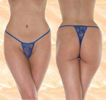 Mini String-Tanga - blau