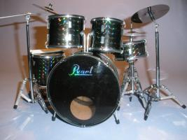 Miniatur Drum kit Pearl - Schwarz