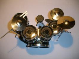Foto 2 Miniatur Drum kit Pearl - Schwarz