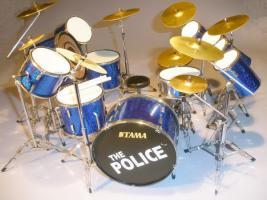 Miniatur Drum kit - The Police