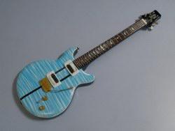 Miniaturgitarre – Carlos Santana Whale Blue Color