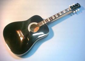 Miniaturgitarre – Elvis Presley - Black Acoustic Gibson