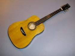 Miniaturgitarre - Acoustic Martin Natural Finish