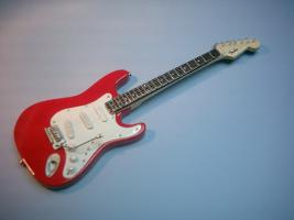 Miniaturgitarre - Andy Summers Red Fender Stratocaster