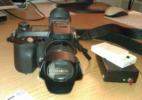 Foto 2 Minolta Dimage 7Hi Systemkamera + Funkausl�ser + AF-Hilfslicht