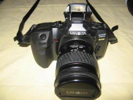 Minolta MAXXUM 550 SI   3 Super- Objektive (1x AF 28-80/1x AF 75-300/1x 100-300)   Tasche