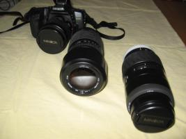 Foto 3 Minolta MAXXUM 550 SI   3 Super- Objektive (1x AF 28-80/1x AF 75-300/1x 100-300)   Tasche