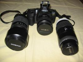 Foto 5 Minolta MAXXUM 550 SI   3 Super- Objektive (1x AF 28-80/1x AF 75-300/1x 100-300)   Tasche