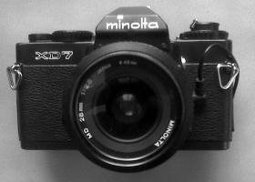 Minolta XD7 schwarz + Zubehör zu verkaufen ,