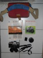 Minolta XE-1 mit 35mm Objektiv, Telemore95 und Zubehör