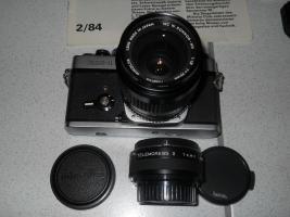 Foto 2 Minolta XE-1 mit 35mm Objektiv, Telemore95 und Zubehör