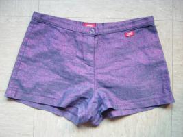 Miss Sixty sexy Hotpants pink/blau glitzernd  Gr 27