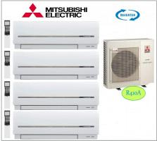 Mitsubishi Electric 4x MSZ-SF25VE, 1x MXZ-4D83VA QUADRO-Split