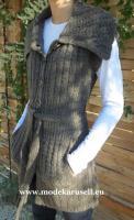 Mode 2013 Strickweste in Braun von Modekarusell