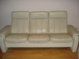 Foto 3 Moderne 2 ,3 Sitzer, Ledersofa mit Funktion.