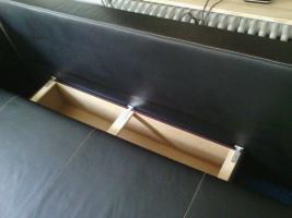 Foto 3 Moderne Ledercouch mit Bettfunktion (Neupreis 600, --) 150, --€