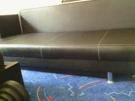 Foto 4 Moderne Ledercouch mit Bettfunktion (Neupreis 600, --) 150, --€