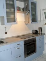 Moderne Nolte Markeneinbauküche, neuwertig, ''taubenblau''