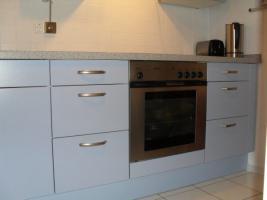 Foto 3 Moderne Nolte Markeneinbauküche, neuwertig, ''taubenblau''