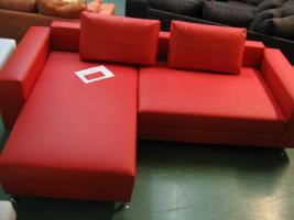 Textilleder Rot L-Form