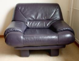 Moderne Sofa Garnitur 2teilig echt Leder 50€