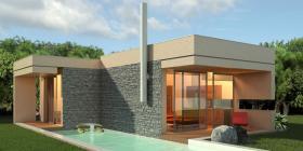 Moderne Villa im mediterranen Stil/Griechenland
