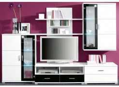 Moderne Wohnwand weiss