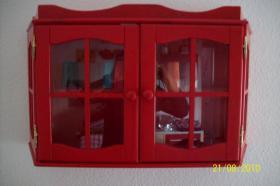 Foto 5 Moderne, rote Küche mit E-Geräten