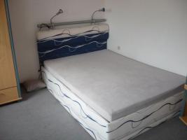 Foto 5 Modernes Bett 2,00mx1,40m inkl. 2 Leseleuchten und Bettkasten