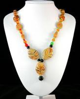 Modeschmuck: Elegante Millefiori-Halskette mit Anhänger!