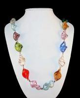Modeschmuck: Elegante Sommer-Halskette ''Sommertraum 2010''