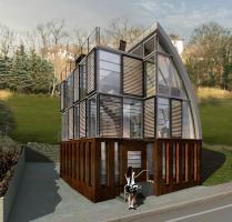 Modulhaus ar-che in Stahl-Glas-Konstruktion