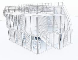 Foto 3 Modulhaus ar-che in Stahl-Glas-Konstruktion
