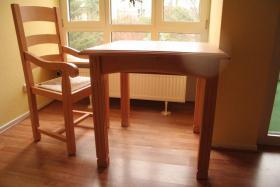 Foto 5 Möbel Komposition aus Pinienholz, gebürstet incl. hochwertigen Messing Kronleuchter