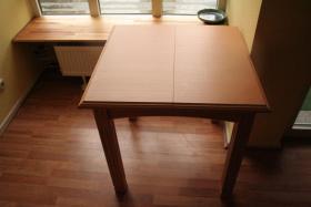 Foto 6 Möbel Komposition aus Pinienholz, gebürstet incl. hochwertigen Messing Kronleuchter