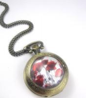 Mohnblumenfeld Uhrenkette