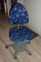 Moll Schreibtischstuhl (Drehstuhl) Maximo Forte metallic, Bezug Pilot (blau mit silbernen Flugzeugen)
