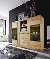 Monte Highboard mit LED Kernbuche massiv