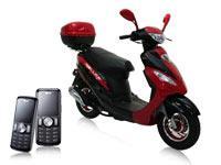 Motorroller RALLOX 50QT-13 2x LG KP100 schwarz mit Vertrag