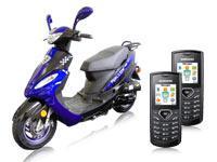 Motorroller RALLOX 50QT-13 +2x Samsung E1170 schwarz+o2 Inklusivpaket Duo mit Handy mit Vertrag