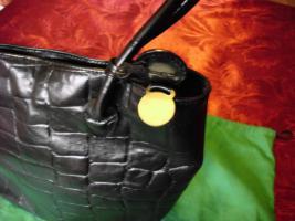 Mulberry Ledertasche schwarz geprägt