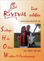 Musik für Sie -  Duo ReVIVAL aus Bautzen -  Carola & Dirk
