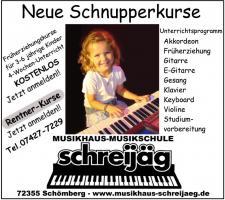 Musikunterricht in Schömberg b. Balingen