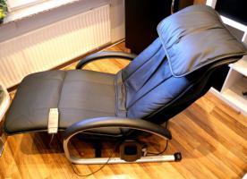 Foto 2 NAIS Massage Lounger EP790 (Leder, schwarz), wie neu, TOP gepflegt