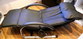 Foto 4 NAIS Massage Lounger EP790 (Leder, schwarz), wie neu, TOP gepflegt