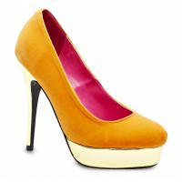 NEU! Damenschuh HIGH HEELS PUMPS ORANGE GOLD TREND Gr. 36 - 41